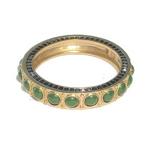 House of Harlow Cabochon Bangle in Green